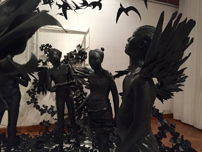 Flying Girls by Peju Alatise. Venice Biennial 2017. Copyright Greenbox Museum Foundation.